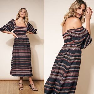 Anthropologie Hutch Reva Smocked Midi Dress